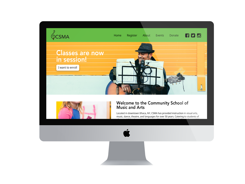 CSMA Website Mockup