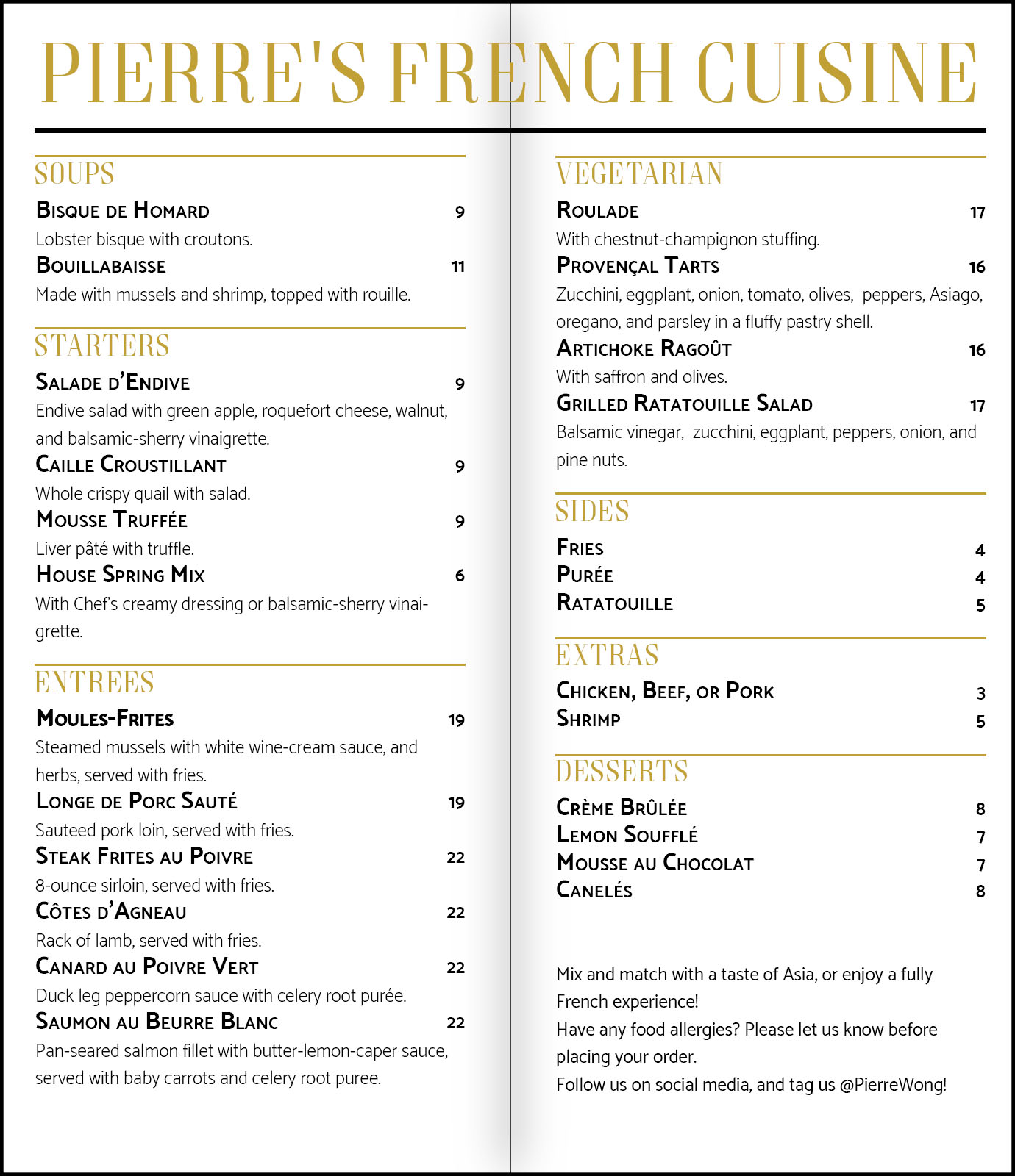 Pierre's French Cuisine Menu_5
